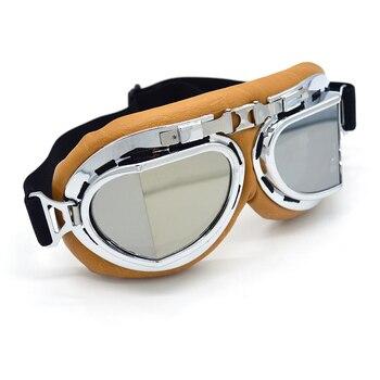 Evomosa lente de plata gafas retro para motocicleta Motocross Moto gafas con montura cruzada país Flexible deporte de ciclismo ojo cascos
