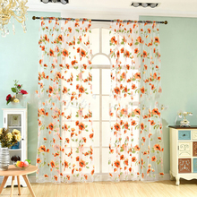 hot deal buy new rich floral embroidered tulle sheer curtains for living room voile window curtains for bedroom children organza curtains