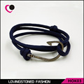 Miansai Multilayer Spiral pattern Gun Black Alloy Hooks Bracelets Tom Hope Bracelet,pulsera ancla-HOK03