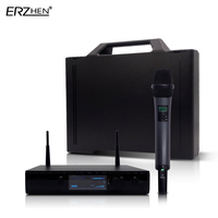 Professional Wireless Microphone UHF D 1 Wireless System with Handheld Transmitter Waist Headband Collar
