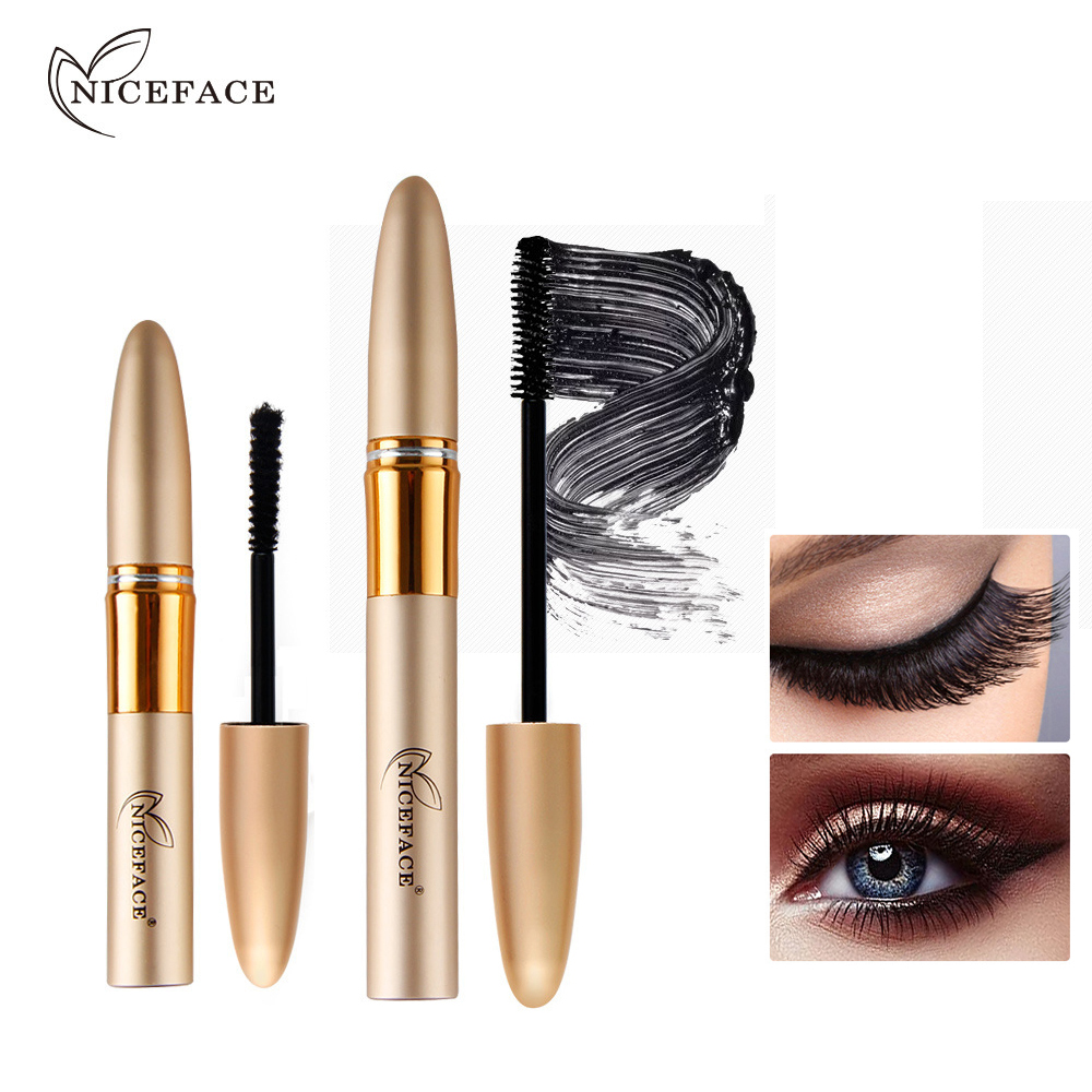 49ad8c18bbf Niceface 3D Eyelashes Mascara Makeup Eyes 3D Fiber Lashes Volume  Longwearing Lengthening Thick Curling Cosmetics Waterproof