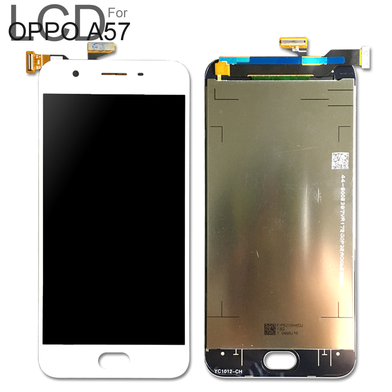 For <font><b>Oppo</b></font> <font><b>A57</b></font> LCD <font><b>Display</b></font> Touch Screen Digitizer Assembly White For <font><b>Oppo</b></font> <font><b>A57</b></font> LCD 100% Tested Well image