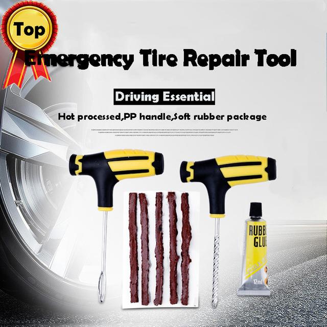 Sale Professional Tire Repair Kit Studding Tool Set Auto Bike Tubeless Tire Tyre Puncture Plug Garage Car Diagnostic Accessories