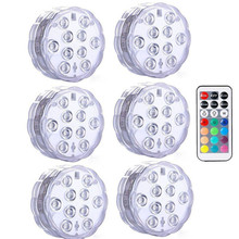 RGB Submersible Light Underwater LED Night Swimming Pool for Outdoor Vase Fish Tank Pond Disco Wedding Party