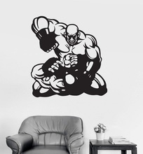 цена на Vinyl wall decal warrior MMA martial arts sports stickers, boxing ring, living room  boxing hall decoration wall stickers, QJ07