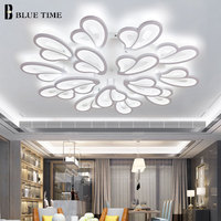 Beautiful Modern Led Ceiling Lights For Home Living room Bedroom Led Lustres Ceiling Mounted Lamp Black&White Lighting Fixtures