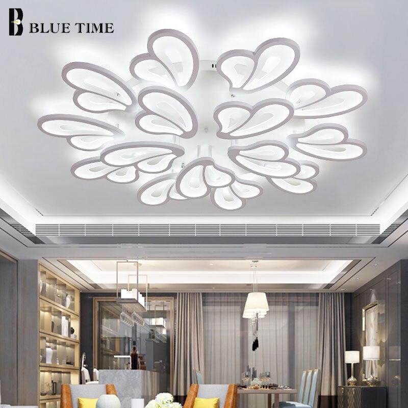 Belle Moderne Led Plafonniers Pour La Maison salon Chambre Led Lustres Plafond Monté Lampe Noir et Blanc Luminaires