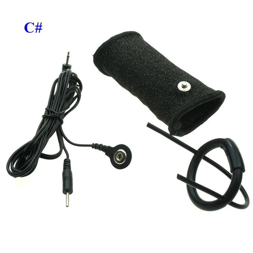 Medical Electrical Sex Toys Accessory Penis Sleeve Glans Ring Electro Shock Penis Enlarger Cock Ring Sex Products For Men
