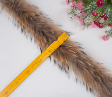 real raccoon fur stripe 68CM