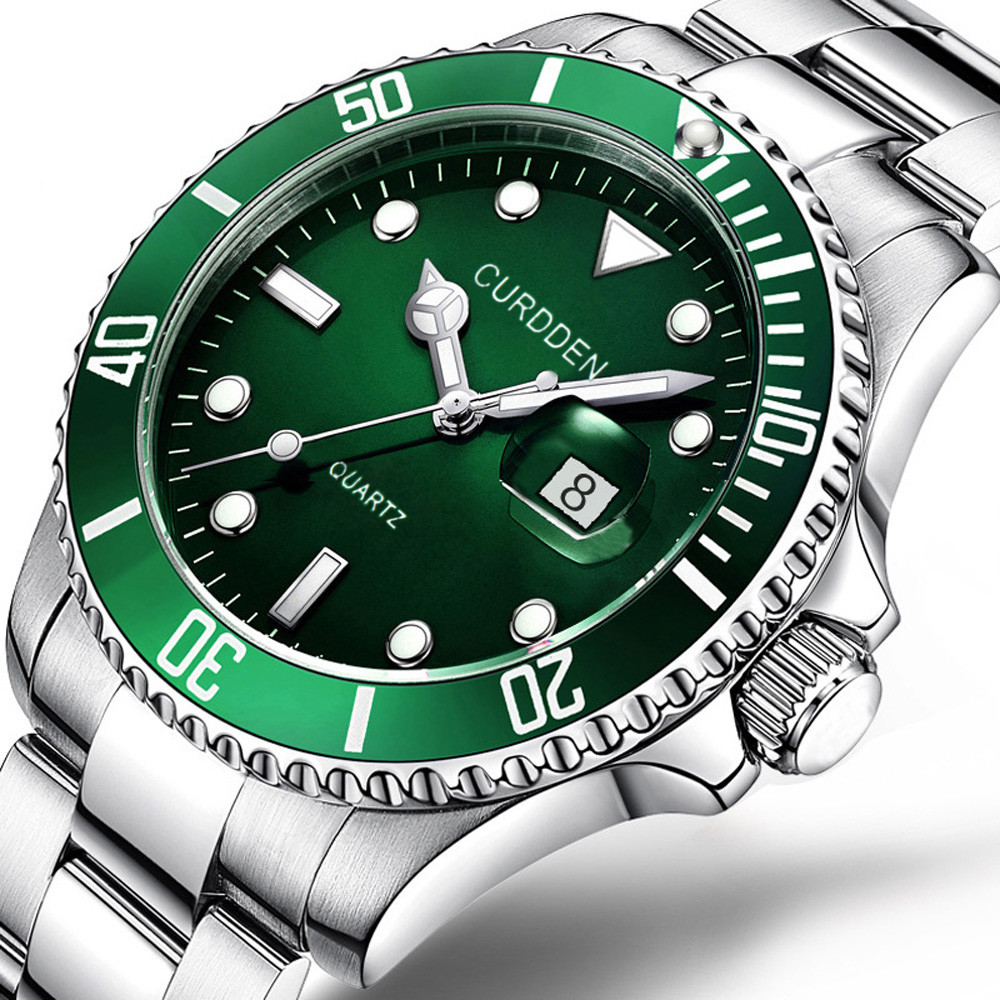 CURDDE Men 2019 Luxury Fashion Military Stainless Steel Date Sport Quartz Analog Wrist Watch Wristwatch Clock Retro #A7