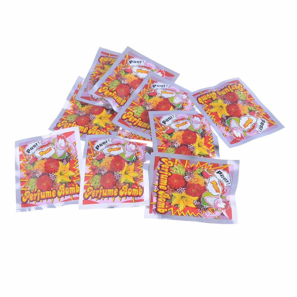 10 teile/los Neuheit Furz Bombe Taschen Stink Bombe Stinkende Lustige Gags Praktische Witze Narr Spielzeug Gags Spielzeug