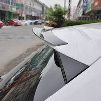 high quality ABS black piano paint Fit For Audi A3 Hatchback Roof Spoiler 2014 2018