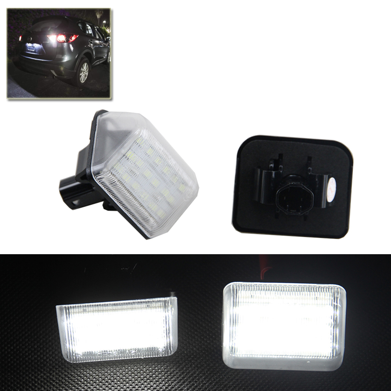 Xenon White Set OE-Replace Led Number License Plate Lights Lamp For Mazda CX5 CX7 6 Speed6 Car Styling Car Led Auto Light free shipping 2x no error led license plate light for mazda cx 7 speed 6 mazda 6 car styling auto parts accessories auto led
