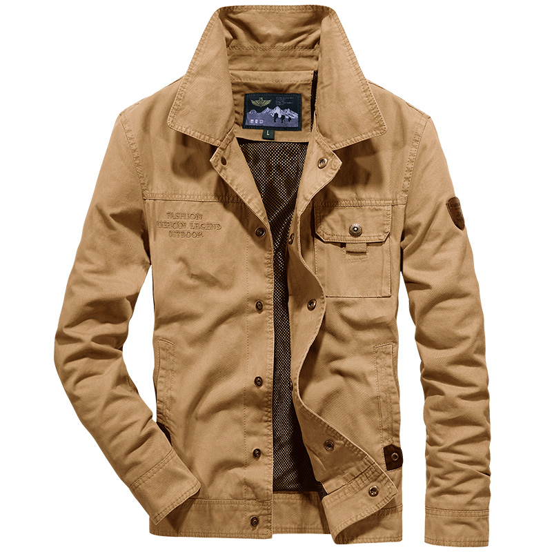2019 Nouveau AFS JEEP hommes veste jaqueta masculina automne blouson hommes militaire veste homme marque armée veste plus la taille 4XL