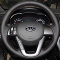 Steering wheel cover case for KIA K5 2012 car covers DIY genuine leather sewing car steering covers car styling Anti-slip