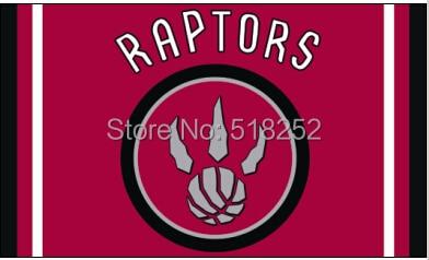 Toronto Raptors column Flag 3x5 FT 150X90CM NBA Banner 100D Polyester Custom flag grommets 6038,free shipping