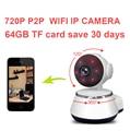 64 gb guardar 30day ptz cámara motion detección de alarma baby monitor cámara HD720P Cámara IP Wifi IR Cut P2P cctv Visión Nocturna V380