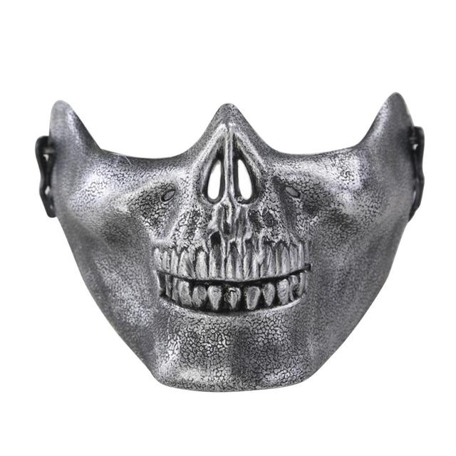 LumiParty Halloween Masquerade Party Cosplay Fancy Chieftain Skull Half Face Mask for Adult Women and Men