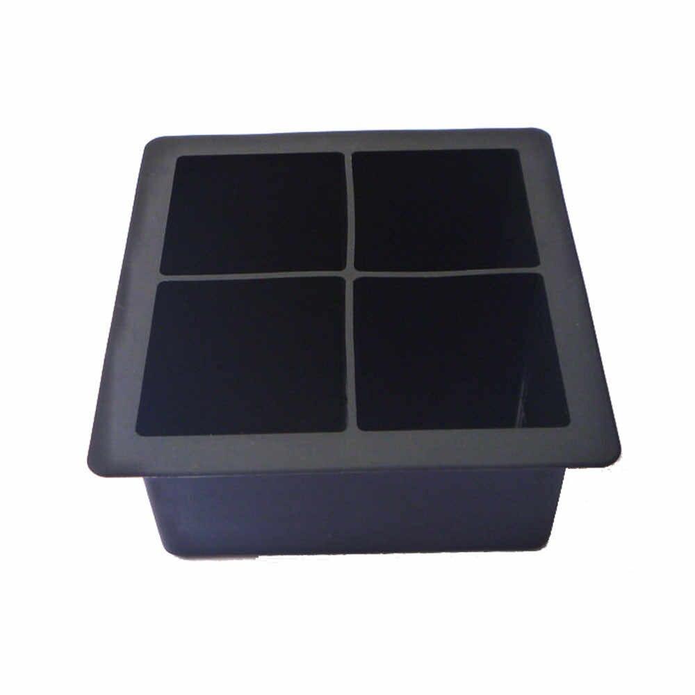 4-Rongga Besar Silikon Minum Es Batu Puding Jelly Sabun Cetakan Cetakan Tray Alat Es Krim Alat Es Batu nampan Cetakan Bar Perlengkapan