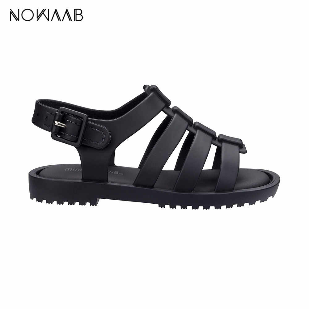 Mini Melissa Flox 2019 ใหม่สาวโรมันวุ้นรองเท้าแตะเด็กรองเท้าแตะMelissaรองเท้าแตะเด็กชายหาดรองเท้าลื่นรองเท้าแตะ