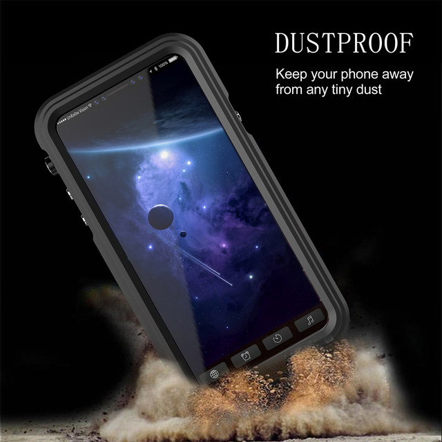 Ascromy For iPhone X Case Shockproof IP68 Waterproof Metal Bumper Cover For Appe iPhone 7 Plus 8 8plus Water Proof Accessories (5)