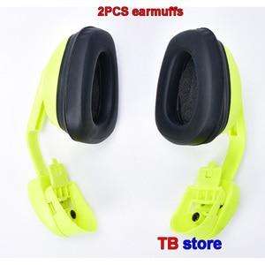 Image 2 - DELTA PLUS 103008 Hanging earmuffs profession Anti noise earmuffs ABS shell Memory foam cotton Safety helmet earmuffs