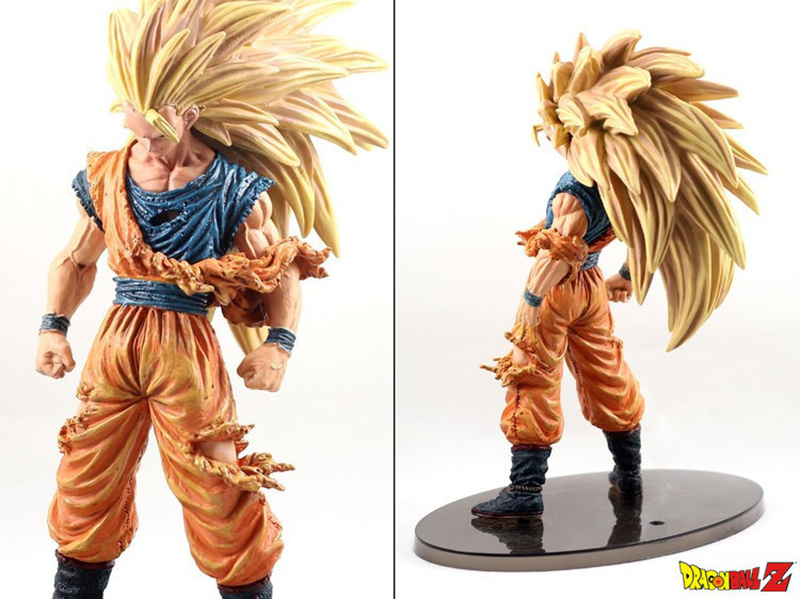 Dragon Ball Z Super Saiyan 3 Goku Big Size Figures Manga Bandai Dragonball Pvc Anime Figma Jouet Kids Hot Toys for Children Boys 1 pcs anime dragon ball z toy figure super saiyan goku pvc action figures big size dragonball model toys for boys kids wholesale