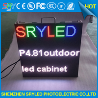P4 81 Outdoor LED Display Die Casting Aluminum Cabinets 500mm 500mm For Stage Video Wall Rental
