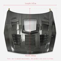 Car Accessories R35 Carbon Fiber Hood Transparent Heart Type GTR Bonnet Cover Glossy Finish Surface GT R Racing Body Kit Trim