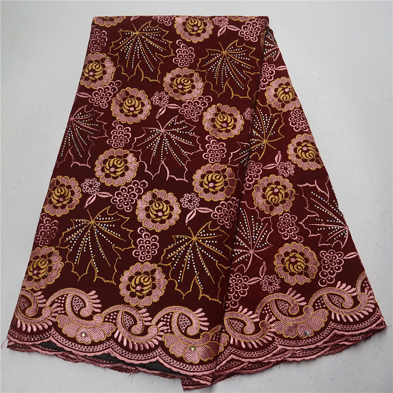 2019 Hot Sale Beautiful French Swiss Voile Lace Fabric African Cotton Lace Fabric High Quality Embroidery