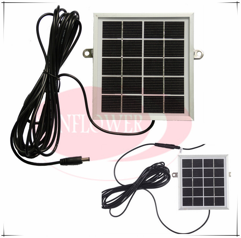 Solar power panel charger for wifi video door phone outdoor camera 2W 5V free shipping 100w folding solar panel solar battery charger for car boat caravan golf cart