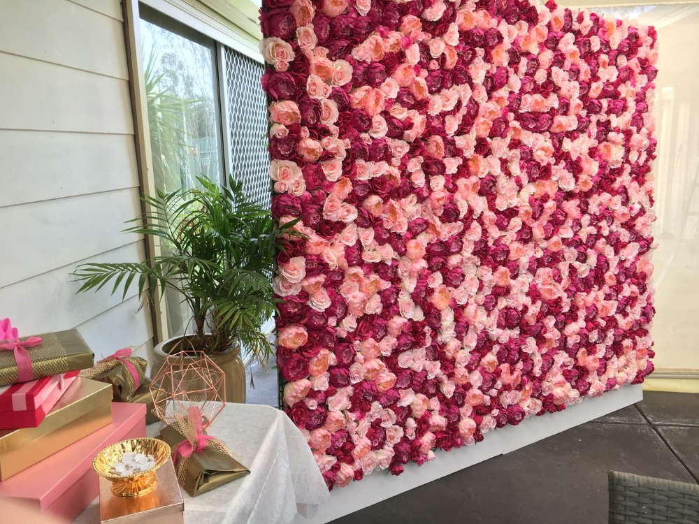 TONGFENG 10 pcs/lot artificielle soie rose pivoine fleur mur mariage toile de fond décoration fleur coureur mariage scène décoration-in Fleurs séchées et artificielles from Maison & Animalerie    1