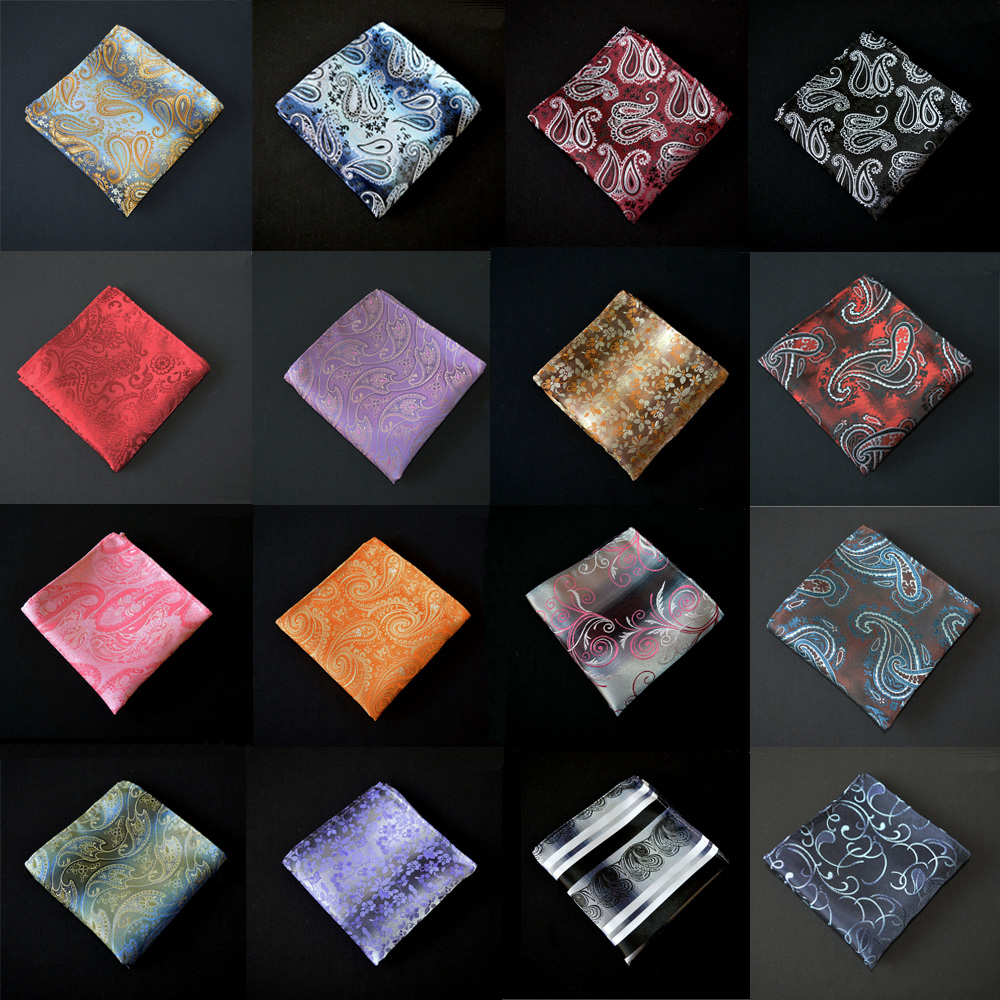 Men New Fashion Paisley Flower Handkerchief Pocket Square Wedding Party Hanky BWTYX0506