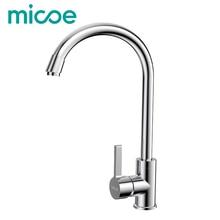 MICOE modernen küchenspüle wasserhahn messing poliert wasserhahn einzigen handgriff warmen und kalten torneira 360 swivel waschbecken mixer wasserhahn