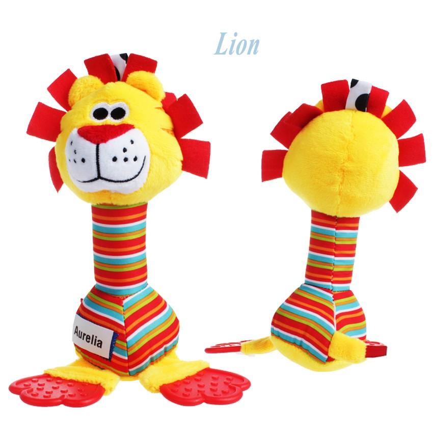 25 cm bunten tieren infant baby rasseln weichem plüsch toys kinder ...