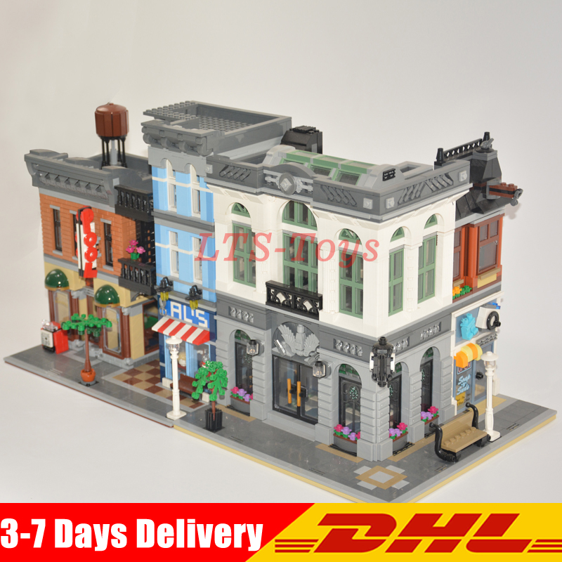 2018 LEPIN 15001 Brick Bank+15011 The Detectives Office Model Building Kits Blocks Brick ...