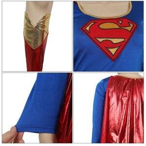 Image 5 - COSREA Superwoman elbise Superman Cosplay kostümleri yetişkin kız cadılar bayramı süper kız takım elbise süper hero Wonder Woman süper Hero