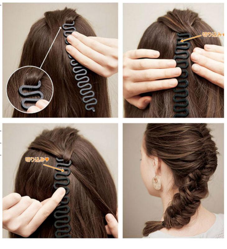 #AD17036 French Braiding Tools Magic Hair Clip Braider Stylist Queue Twist Plait Hair Braid DIY  Hairstyle Styling Accessories заколка french twist