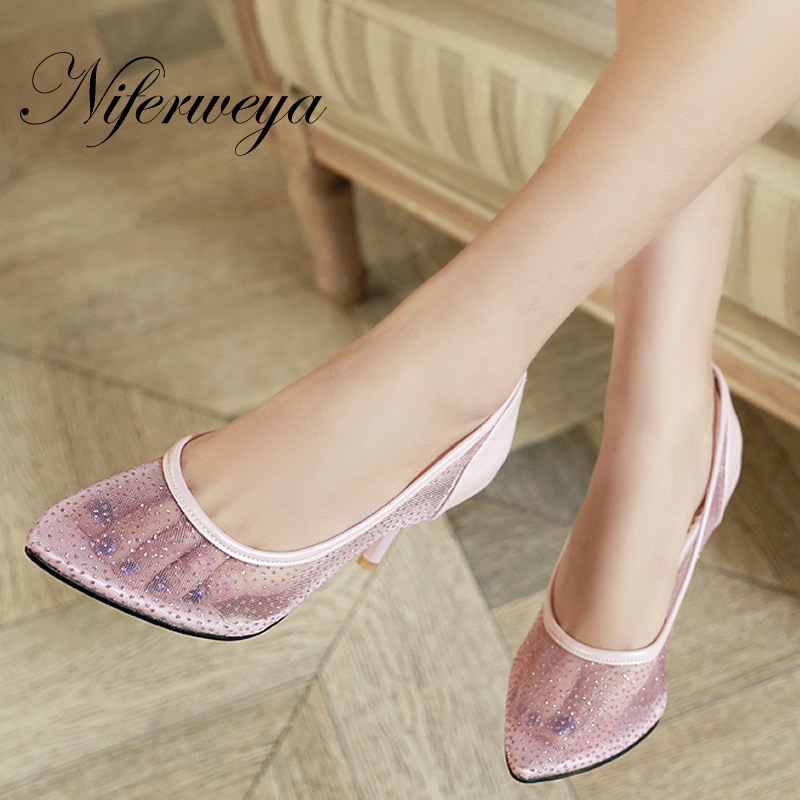 Big Size 28-50 Spring/Autumn women shoes sexy Pointed Toe pumps fashion solid Slip-On High heels zapatos mujer HQW-201 memunia 2017 fashion flock spring autumn single shoes women flats shoes solid pointed toe college style big size 34 47