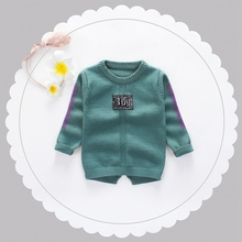 2017 Baby Boys Long Sleeve O Neck Knitwear Letter Pullover Girls Casual Knitted Sweater Kids Clothes