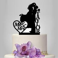 Personalized Wedding Silhouette Cake Topper Unique Wedding Cake Decoration Bride And Groom Cake Toppers Wedding Party