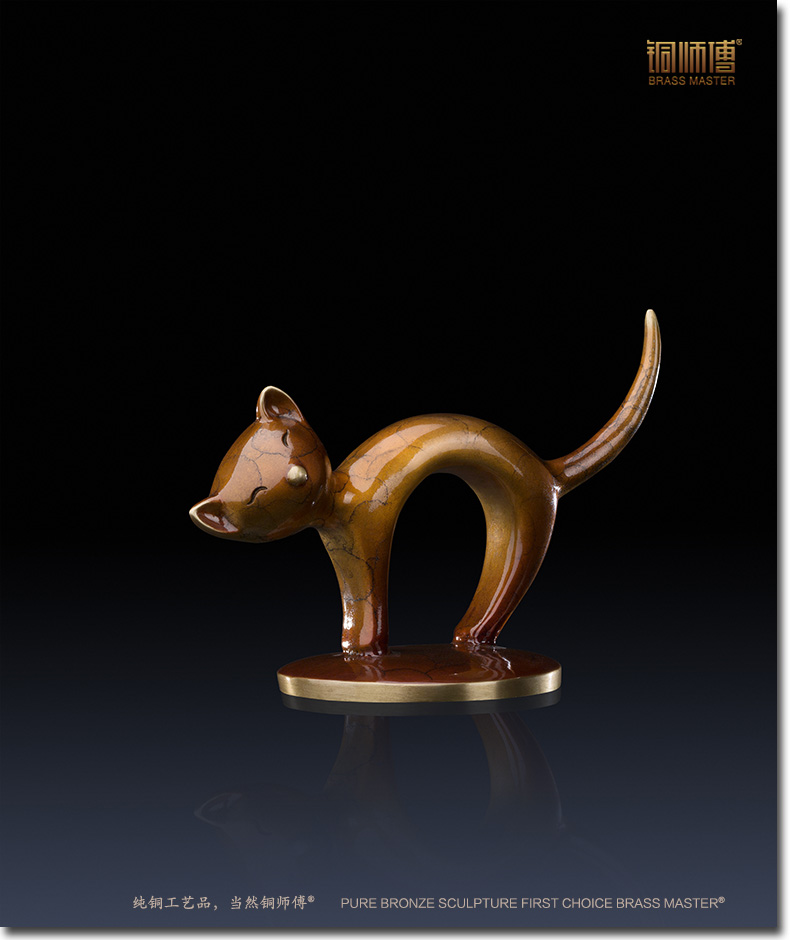 Antique bronze Pure Copper Silly Mini Cat Figurine Home Decoration Brass Copper Cat Craft Furnishing Articles Christmas Gift Antique bronze Pure Copper Silly Mini Cat Figurine Home Decoration Brass Copper Cat Craft Furnishing Articles Christmas Gift