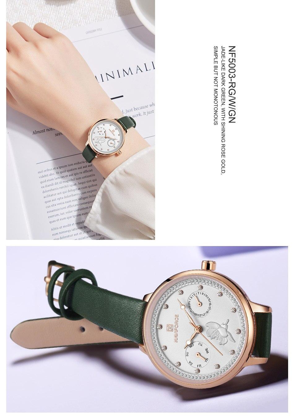 NAVIFORCE Watch Women Fashion Simple Quartz Watches Ladies Thin ...