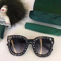 WD0614 2018 роскошные взлетно посадочной полосы Солнцезащитные очки женские брендовые дизайнерские солнцезащитные очки для женщин Картер очки