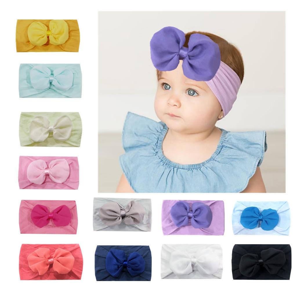Children Headwear Turban Stretch Bowknot Turban Flower Head Wrap