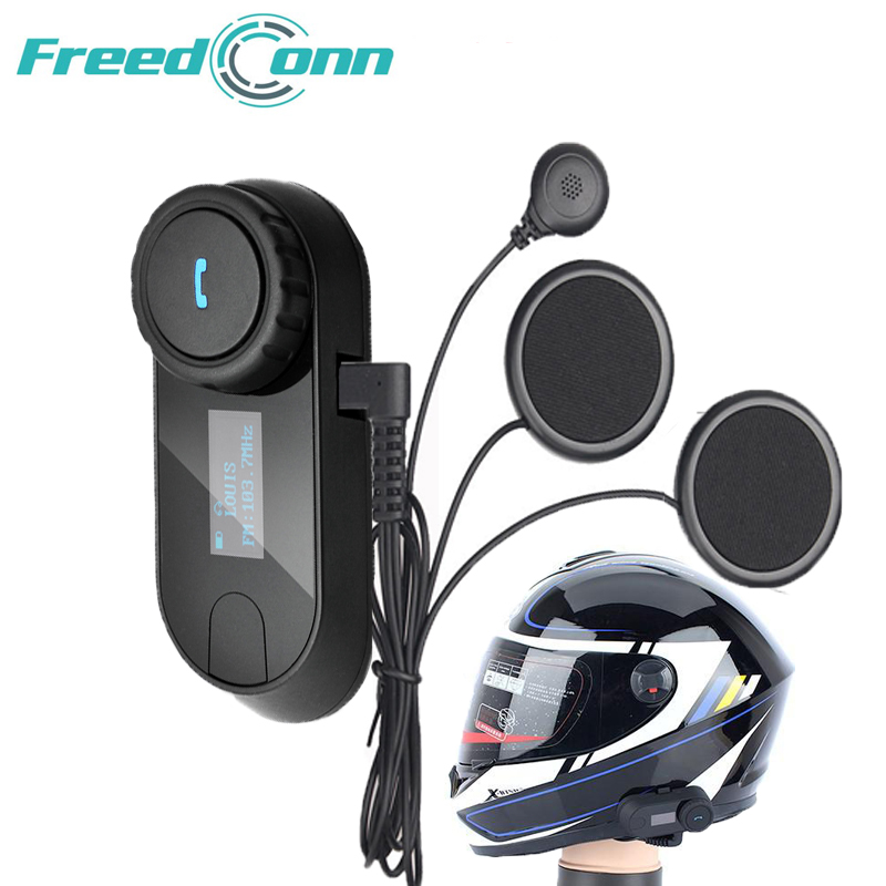 Freedconn Helmet-Intercom Earpiece Interphone Headset Fm-Radio Bluetooth Motorcycle New-Version title=