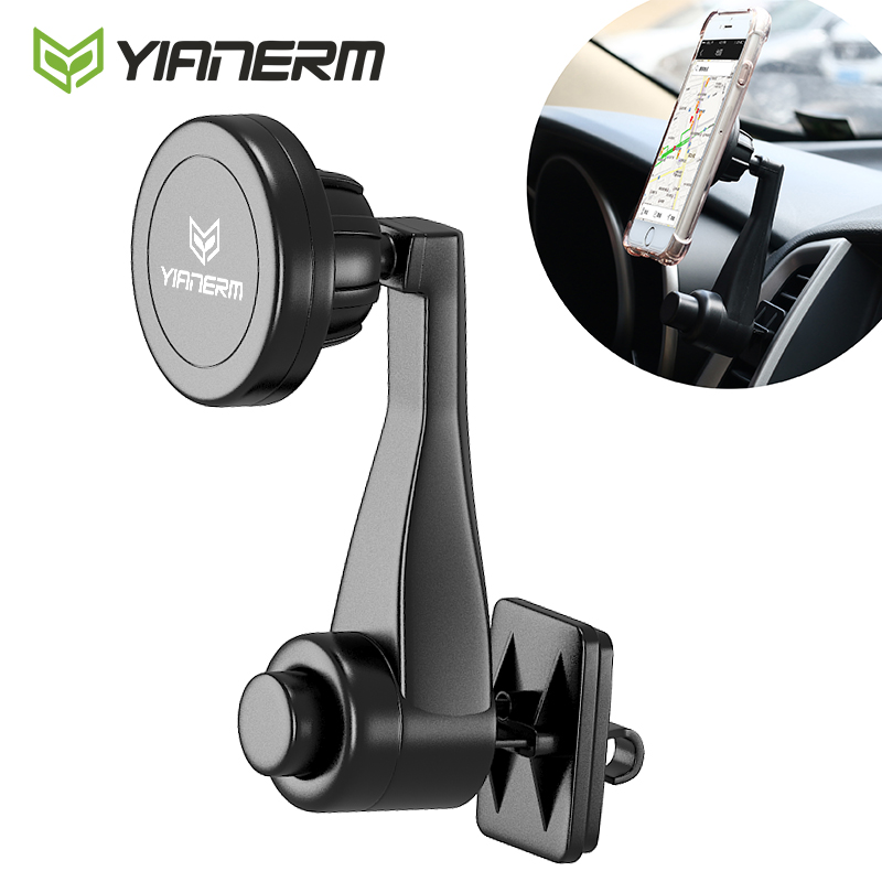 Yianerm Air Vent Car Mount Magnetic Phone Holder Swing Rotating Fixed Outlet Magnet Stand For iPhone 6s 7 Plus,Samsung,Huawei ...