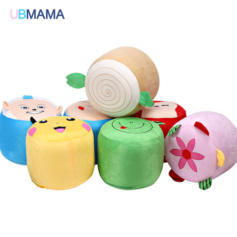 Cartoon Plush Inflatable Stool Environmental Protection PVC Bladder Plush Inflatable Sofa Embroidery Plush Inflatable Stool