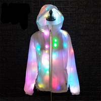 Colorful LED Dance Costume Wear Women Men Waterproof Luminous Party Halloween Costume Clothes LED Growing Lighting Robot Suits