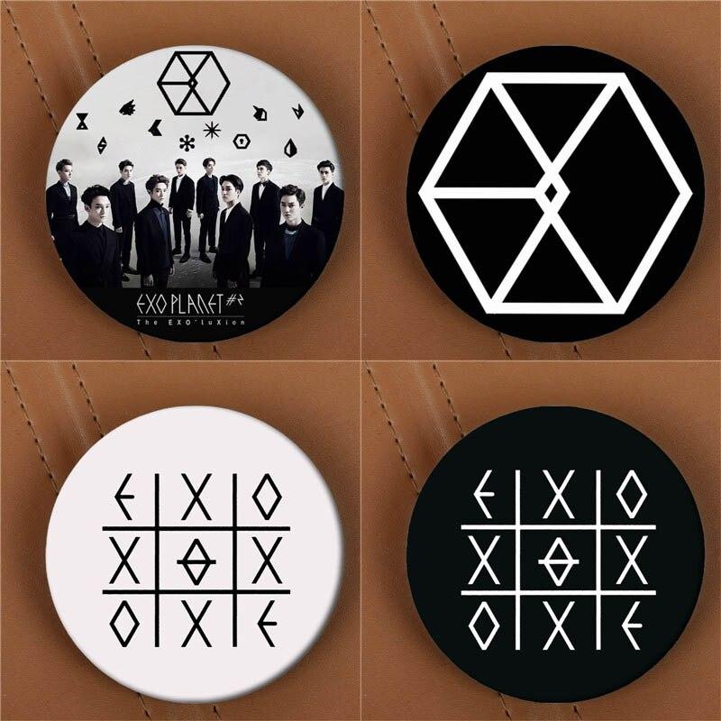 Youpop KPOP EXO EXO-K EXO-M EXODUS PLANET #2 Album Brooch K-POP Pin Badge Accessories For Clothes Hat Backpack Decoration HZ1576 action figure pokemon